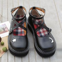 """Sweet japanese galaxy moon platform shoes - Use the code """"batty"""" for 10% off your order!"""