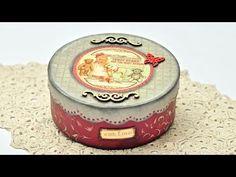 Decoupage pudełko retro - tutorial DIY