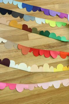 prismatic clouds felt garland 60ft RESERVED for Robbie. $105.00, via Etsy.