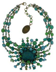 Halskette Collier Alien Caviar grün