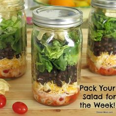 Layered Taco Salad in a Jar plus tips for packing any salad this way!