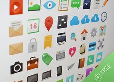 It's Flat is an amazing icon set containing 48 flat and coloured icons. A PSD freebie designed by Sebastiano Guerriero. Flat Design Icons, Icon Design, Flat Icons, Ux Design, Icon Font, Free Design, Design Elements, Interface Design, User Interface