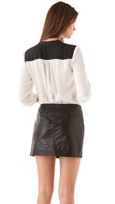 Another great work top { Theory Gerine Cicero Blouse [$235] }