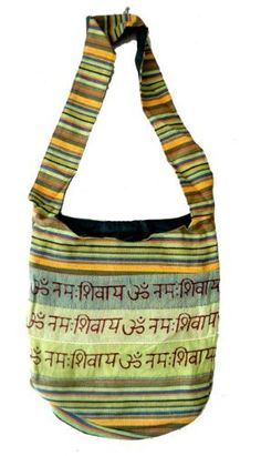 Cotton Canvas Om Design Boho Tote Hippie Indian Sling Cross Body Bag by Krishna Mart India, http://www.amazon.com/dp/B007LHVP4U/ref=cm_sw_r_pi_dp_L.mjqb1GYCGFN