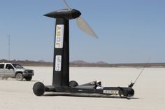 Blackbird cart runs with wind only twice as fast - thanks to a GT Aerospace Engineering grad!