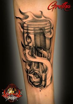 Resultado de imagem para piston hand tattoo