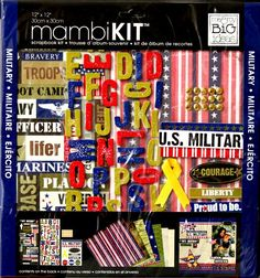 Me & My Big Ideas Mambi Kit Military 12 x 12 Scrapbook Kit is available at Scrapbookfare.