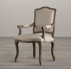 Restoration Hardware Vintage French Camelback Fabric Armchair $509