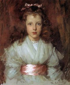 Thérèse Schwartze (Amsterdam artist, 1851-1918) Young Woman Reading in Brabant Costume    Therese Schwartze (1852-1918) was a Dutch port...