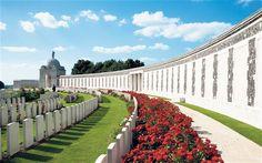Tyne Cot cemetery in Ypres, Belgium