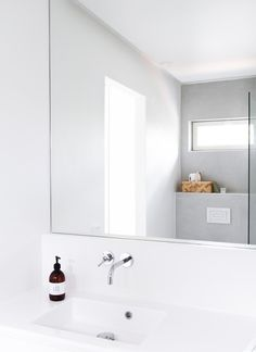 Moulded Top. Inwall Cistern. Minimal Bathroom