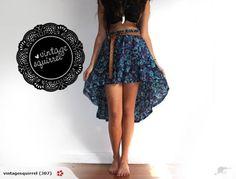 Grosgrain: DIY Waterfall Skirt from Thrift Store Find