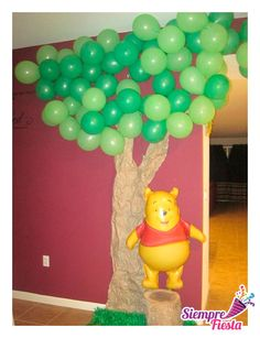 Ideas para fiesta de Winnie Pooh. Encuentra todos nuestros artículos en nuestra tienda online aquí: http://www.siemprefiesta.com/fiestas-infantiles/ninas/articulos-winnie-pooh.html?utm_source=Pinterest&utm_medium=Pin&utm_campaign=WinniePooh
