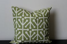 Decorative Throw Pillow Green Pillow Cover by JuliaSherryHome