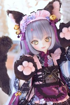 Anime Dolls, Ooak Dolls, Blythe Dolls, Kawaii Doll, Kawaii Anime Girl, Pretty Dolls, Beautiful Dolls, Anime Figurines, Dream Doll