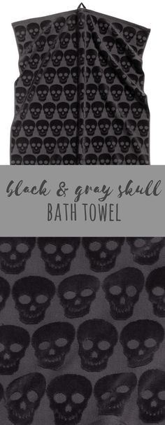 Awesome skull towel to add a little darkness to your bathroom!
