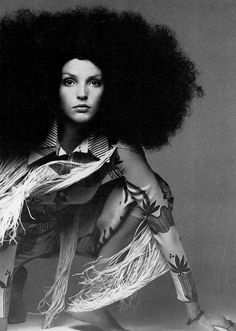 Photo by Clive Arrowsmith, 1969  sort of like my afro in 70's but mine was rounder on top... geesh that's a lot of hair