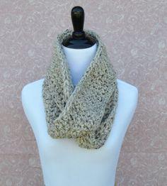 Crochet Infinity Scarf- OATMEAL