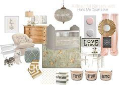 A gorgeous eDesign in shades of pale pink, pale silver, pale gold. Dreamy!! via the Bébé bébé bébé Nursery series at Fieldstone Hill Design, design by @D Alfonso