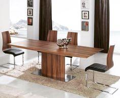 Spisebord og stoler kolleksjon BERGEN. www.mirame.no #bord #spisestue #stue #stol #stoler #spisestuestoler #gang #kjøkken #kjøkkenbord #innredning #møbler #norskehjem #mirame #pris  #interior #interiør #design #nordiskehjem #vakrehjem #nordiskdesign  #oslo #norge #norsk  #tre #metall #rom123 #krom #bergen #nyhet #valnøtt