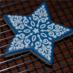 Ornate Scroll Star Cookie Set (no cutter) | Designer Stencils