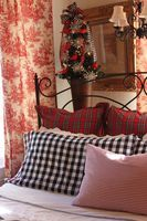 Opulent Cottage: Toile, Plaid and Gingham Christmas Bedroom