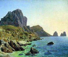 On The Island Of Capri. Coastal Cliffs. Lev Lagorio Original Title: На острове Капри. Береговые утесы. Date: 1859