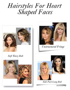 Hairstyles For Heart Shaped Faces by diane-howard-image on Polyvore