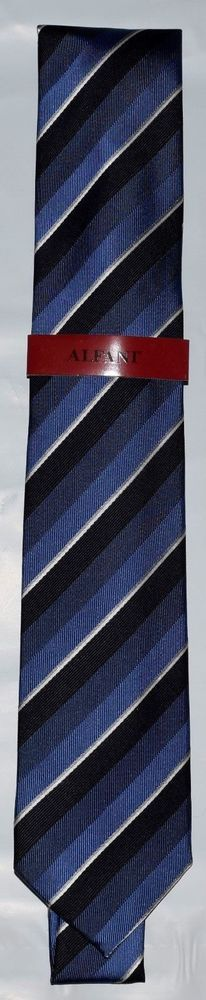 983d7157afb2 Alfani Men s 2.75 Slim Tie Blue, MADISON STRIPE NEW WITH TAGS #AU51 $52.50