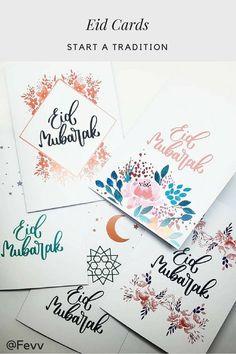 Start a Tradition With Eid Card Giving Eid Mubarak Greeting Cards, Eid Mubarak Greetings, Ramadan Cards, Ramadan Gifts, Eid Envelopes, Eid Mubarak Card, Ramadan Activities, Eid Crafts, Happy Eid
