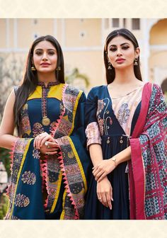 Kiana Ghoomar Designer Printed Heavy Loan Cotton Readymade Anarkali Kurtis with Dupatta at Wholesale Rate Indian Designer Outfits, Designer Gowns, Indian Outfits, Designer Kurtis, Lehenga Gown, Fashion Today, Indian Wear, Indian Fashion, Blouse Designs