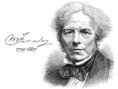 Michael Faraday.  An English scientist who contributed to the fields of electromagnetism and electrochemistry. His main discoveries include those of electromagnetic induction, diamagnetism and electrolysis.
