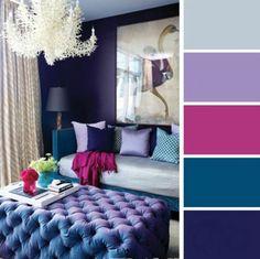 paleta de colores para dormitorio azules rosa lavanda y gris                                                                                                                                                                                 More