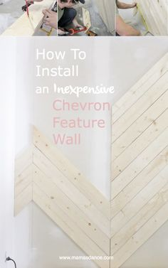 How to Install an Inexpensive Wood Chevron Feature Wall | via Ashlea of This Mamas Dance