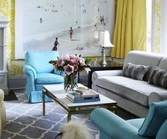 Room Yellow Grey Green Brown On Pinterest Living Room Colors