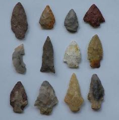 Group of Arrowheads Found at Rock Mountain, Alabama