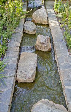 man-made creek, the North Carolina Arboretum, Asheville, NC