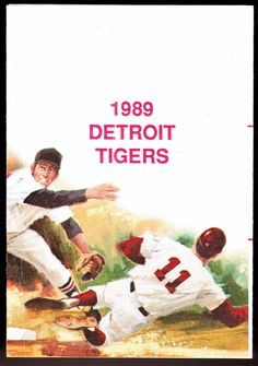 1989 DETROIT TIGERS SCHEDULE CONNECTION BASEBALL POCKET SCHEDULE FREE SHIPPING