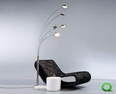 Stehlampe TULIPS 225 cm Dimmer Designer-Lampen von QUBO verschönern nicht nur Ihr Heim, sondern sind Ausdruck Ihrer Persönlichkeit.  Wir möchten Ihnen ein elegantes Meisterwerk vorstellen: Die Designer Stehlampe TULIPS (satte Höhe ca. 225cm!) und mit weißem Marmorfuß.
