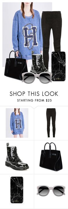"""Untitled #1652"" by velvetgirl10 on Polyvore featuring Tommy Hilfiger, Yves Saint Laurent, Dr. Martens and Ace"