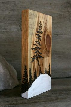 Cuadros 木工 Diy, Wood Burning Art, Wood Burning Crafts, Wood Burning Patterns, Wood Crafts, Wood Design, Wood Burn Designs, Painting On Wood, Pine Tree Painting