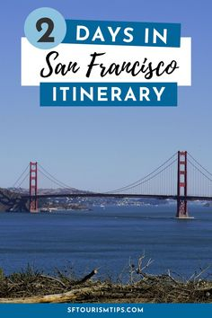 Visiting San Francisco for just two days? Read through my suggested 2-day itinerary to see how to spend your time wisely and visit as many attractions, museums, and districts in your 48-hour visit. It includes visits to the Golden Gate Bridge, Fisherman's Wharf, and Alcatraz. Visit California, California Travel, San Francisco Attractions, Lombard Street, San Francisco Travel, Greatest Adventure, Golden Gate Bridge, Amazing Photography, San Diego