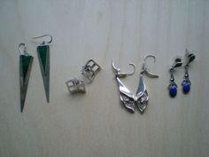 Nu in de #Catawiki veilingen: 4 paar zilveren oorbellen
