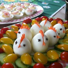 diy to do when bored Kalte Platten zu Ostern dekorieren: 18 kreative Ideen Healthy Meals For One, Easy Healthy Recipes, Healthy Foods, Vegetable Carving, Party Platters, Iftar, Easter Party, Easter Recipes, Easter Ideas