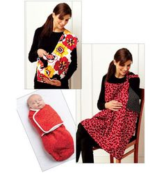 K3734, Swaddler, Sling Carrier & Nursing Cover Kwik Sew Patterns, Baby Patterns, Clothing Patterns, Baby Sewing Projects, Sewing For Kids, Sewing Tutorials, Sewing Crafts, Diy Projects, Nursing Cover Pattern