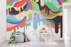 Wall mural R14521 Dripping Ice Cream