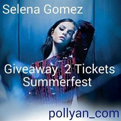 GIVEAWAY TIME// Link into our instagram account to enter// https://www.instagram.com/pollyan_com/ #music #concert #giveaway #selenagomez #summerfest #memorialday #beautiful  #memorialdayweekend