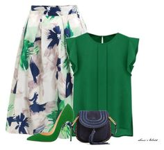 """""""Green"""" by sonies-world on Polyvore featuring WithChic and Chloé:"""