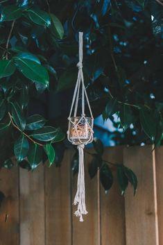 * Easy Macrame Jar Hanger