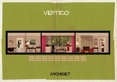 Poster series focusing on a famouns set from the film | ARCHISET - federico babina